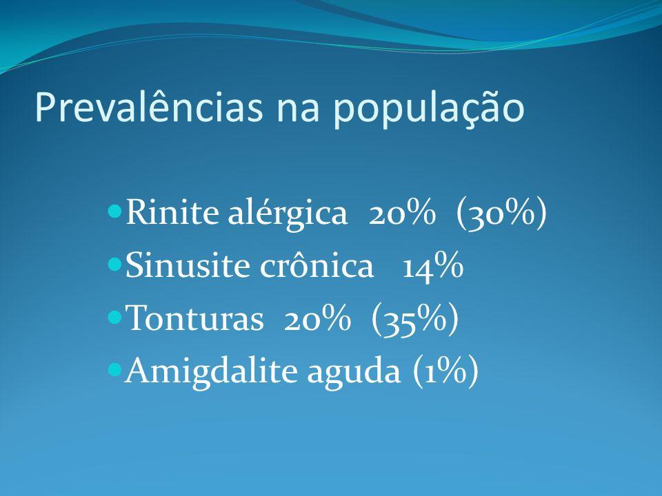Prevalências na população