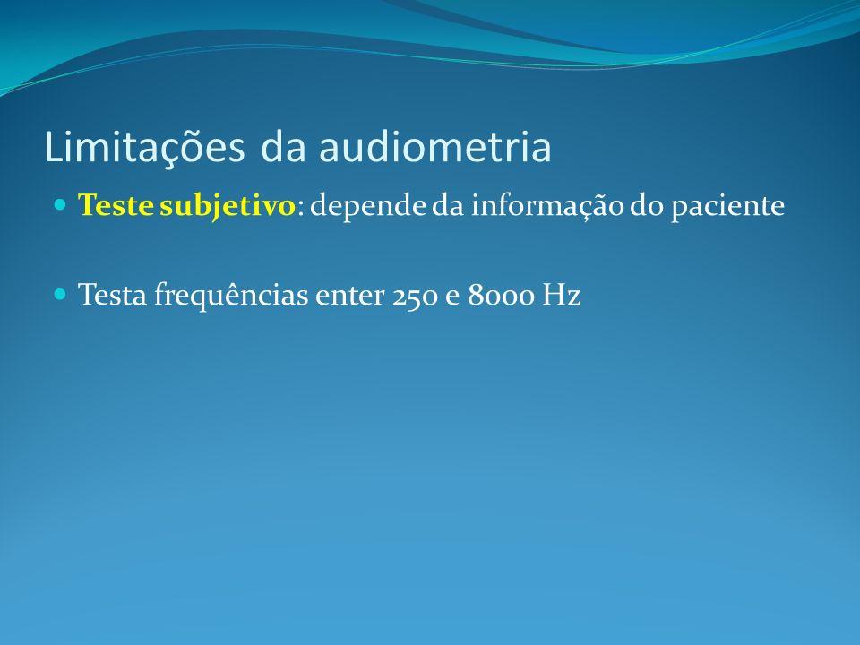 Limitações da audiometria