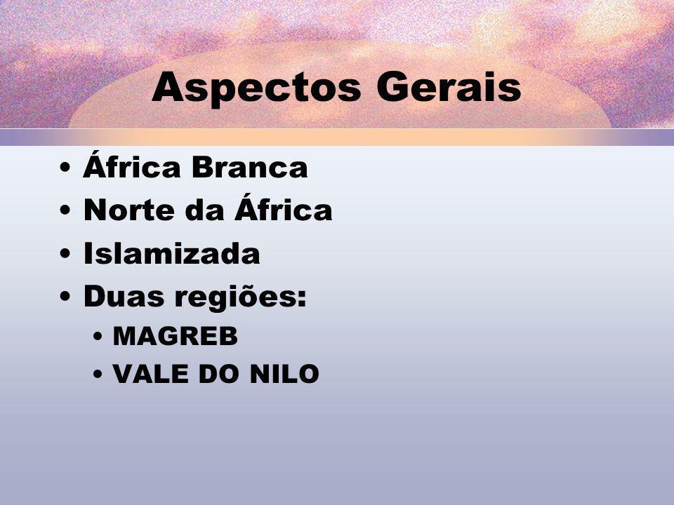 Aspectos Gerais África Branca Norte da África Islamizada Duas regiões: