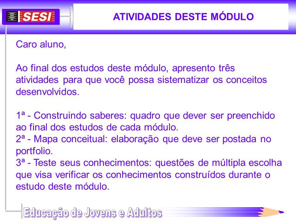 ATIVIDADES DESTE MÓDULO