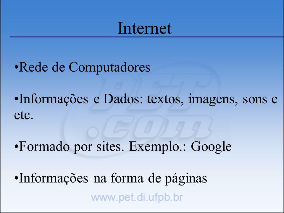 Internet Rede de Computadores