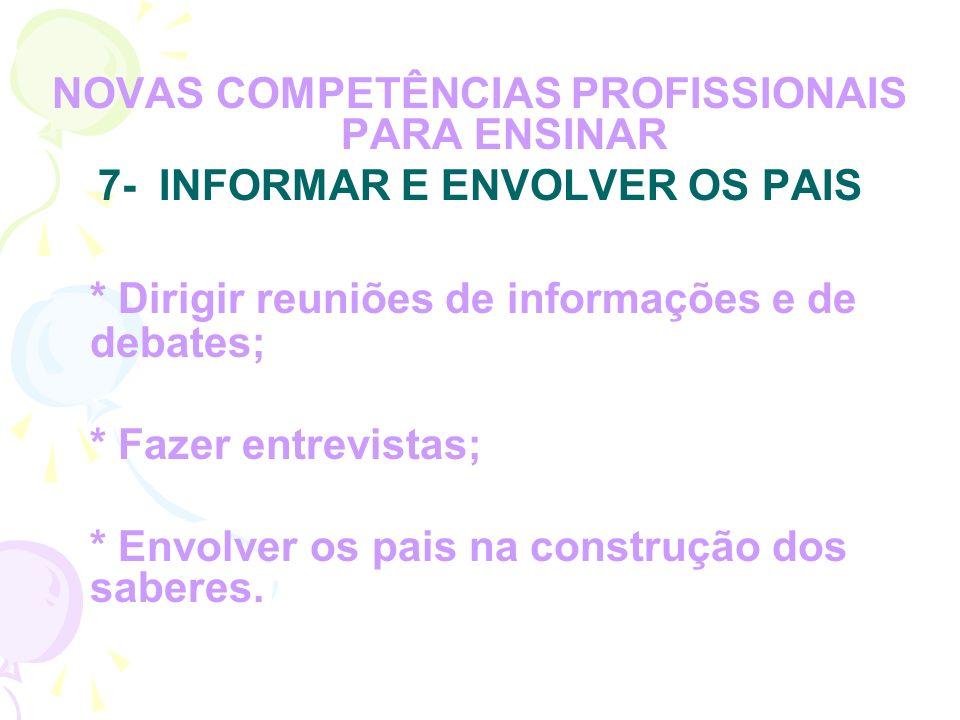 * Dirigir reuniões de informações e de debates;