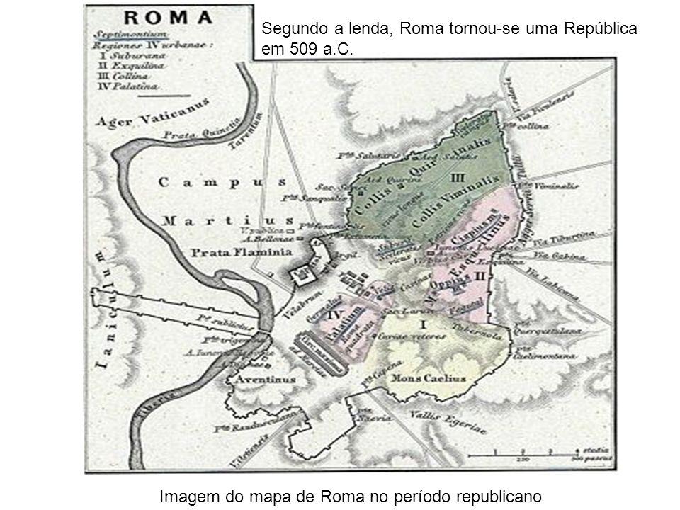 Segundo a lenda, Roma tornou-se uma República em 509 a.C.