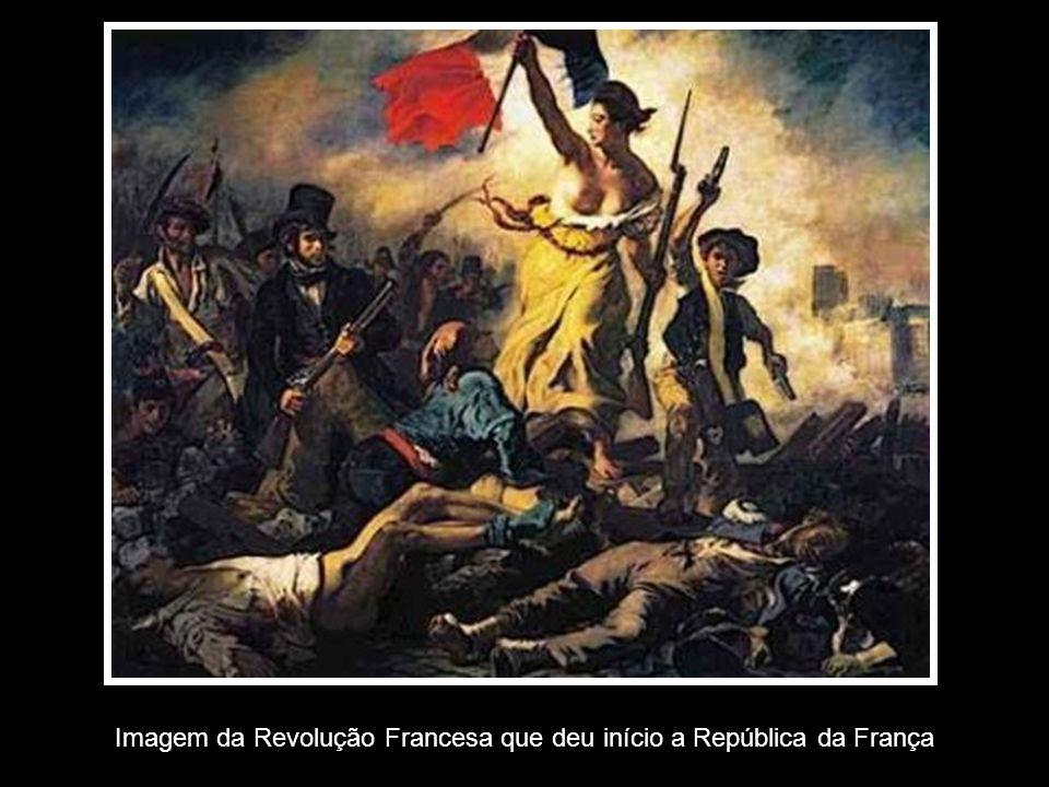 Imagem da Revolução Francesa que deu início a República da França