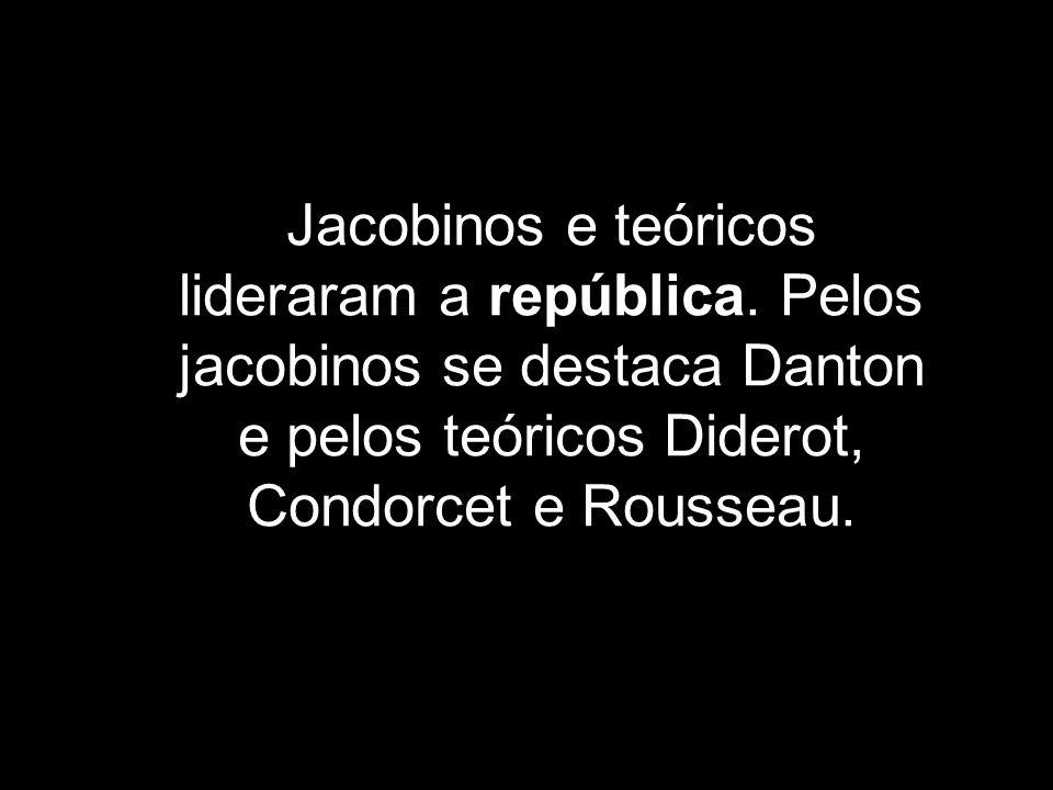 Jacobinos e teóricos lideraram a república