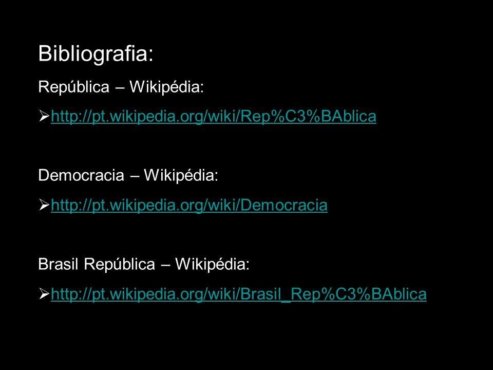 Bibliografia: República – Wikipédia:
