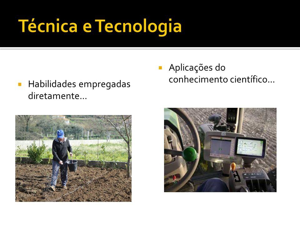 Técnica e Tecnologia Aplicações do conhecimento científico...
