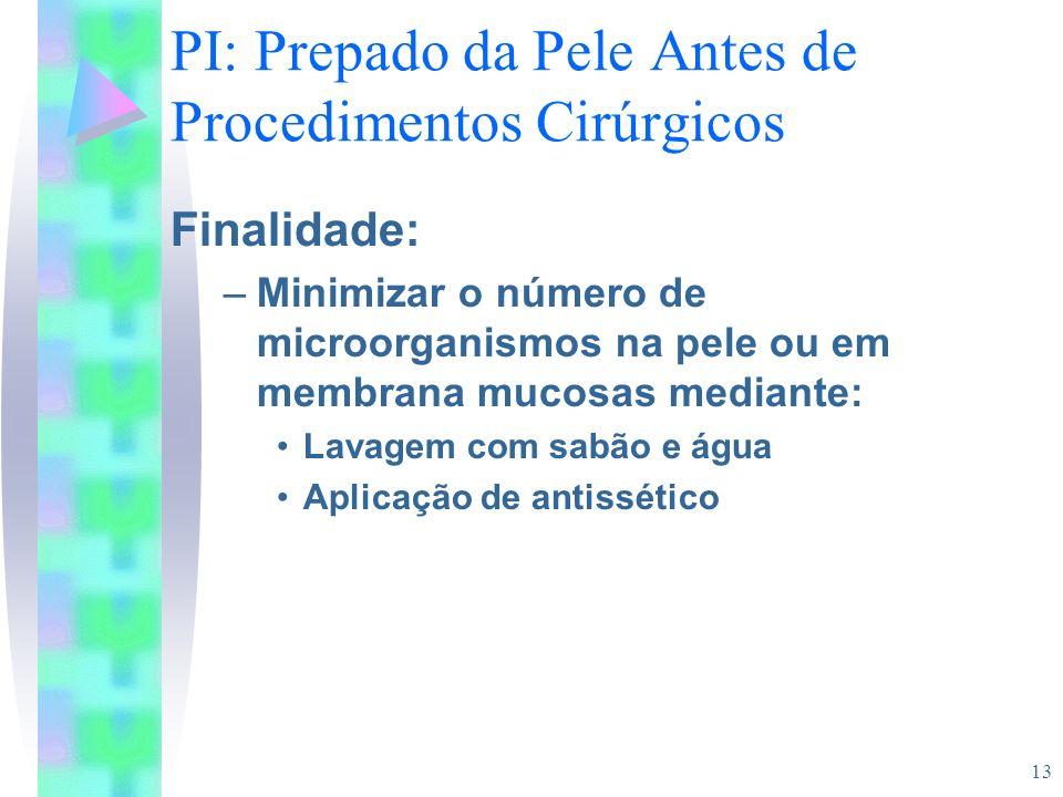 PI: Prepado da Pele Antes de Procedimentos Cirúrgicos