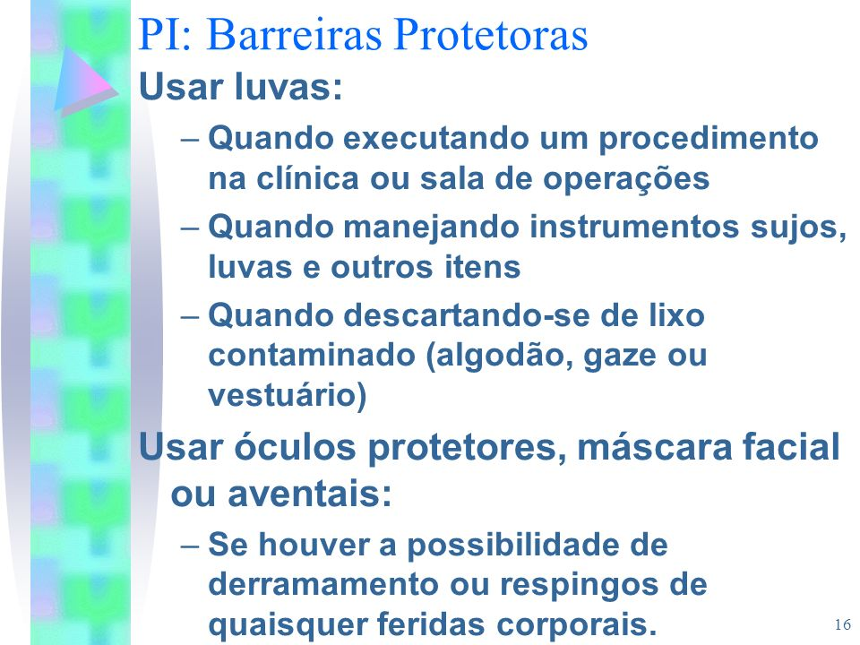 PI: Barreiras Protetoras