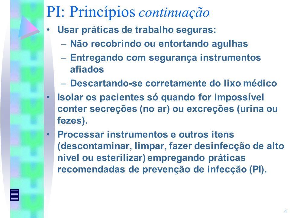 PI: Princípios continuação