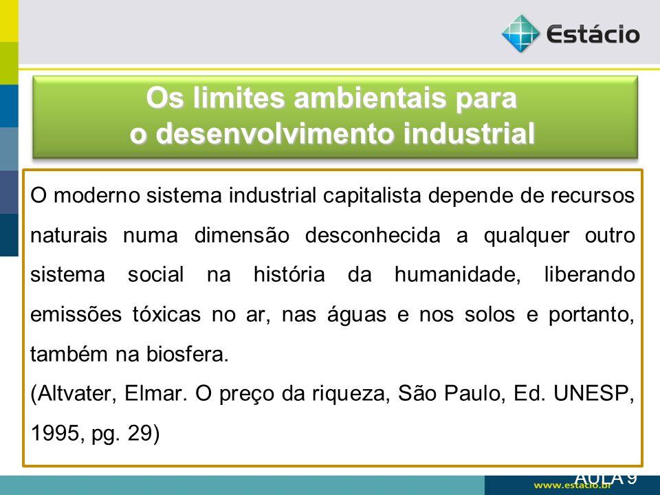 Os limites ambientais para o desenvolvimento industrial