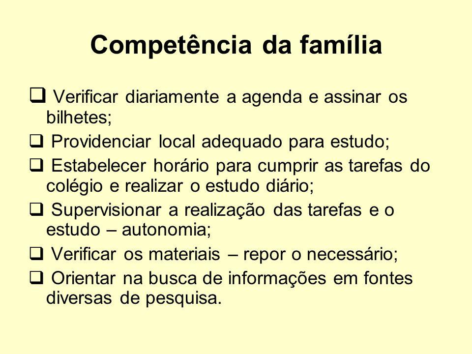 Competência da família