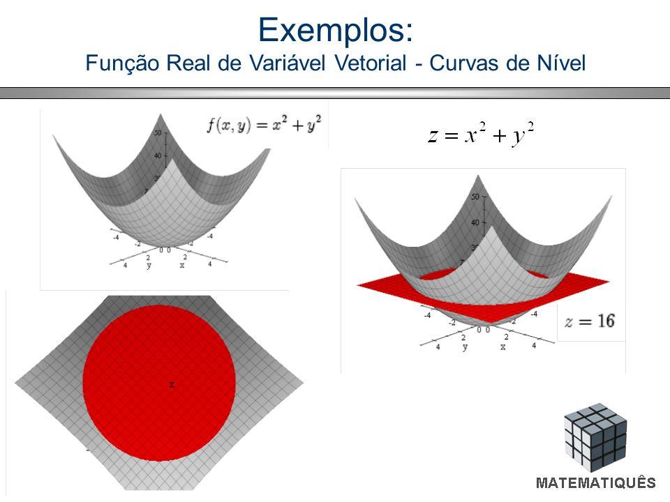 Função Real de Variável Vetorial - Curvas de Nível