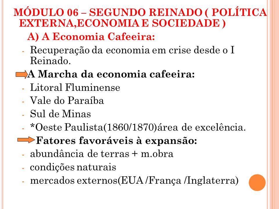 MÓDULO 06 – SEGUNDO REINADO ( POLÍTICA EXTERNA,ECONOMIA E SOCIEDADE )