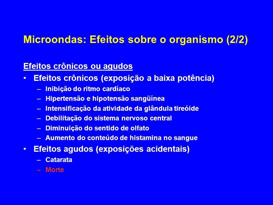 Microondas: Efeitos sobre o organismo (2/2)