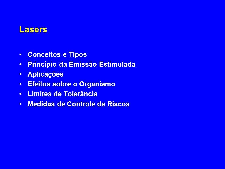 Lasers Conceitos e Tipos Princípio da Emissão Estimulada Aplicações