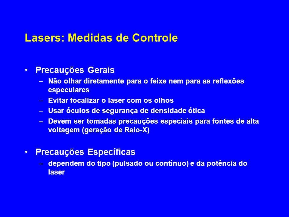 Lasers: Medidas de Controle
