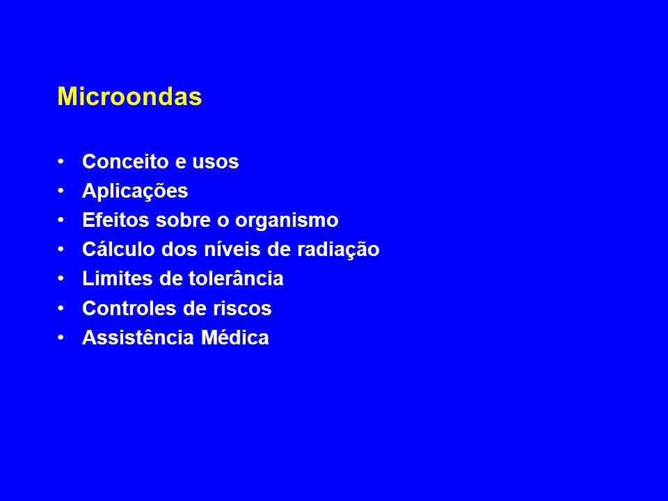 Efeitos sobre o organismo Cálculo dos níveis de radiação
