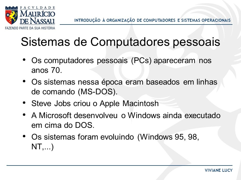 Sistemas de Computadores pessoais