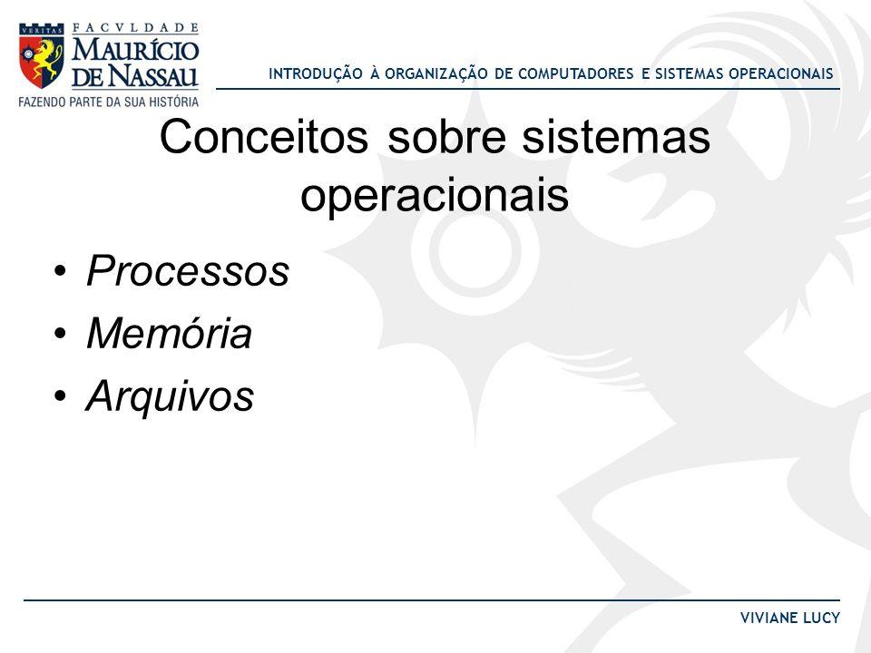 Conceitos sobre sistemas operacionais