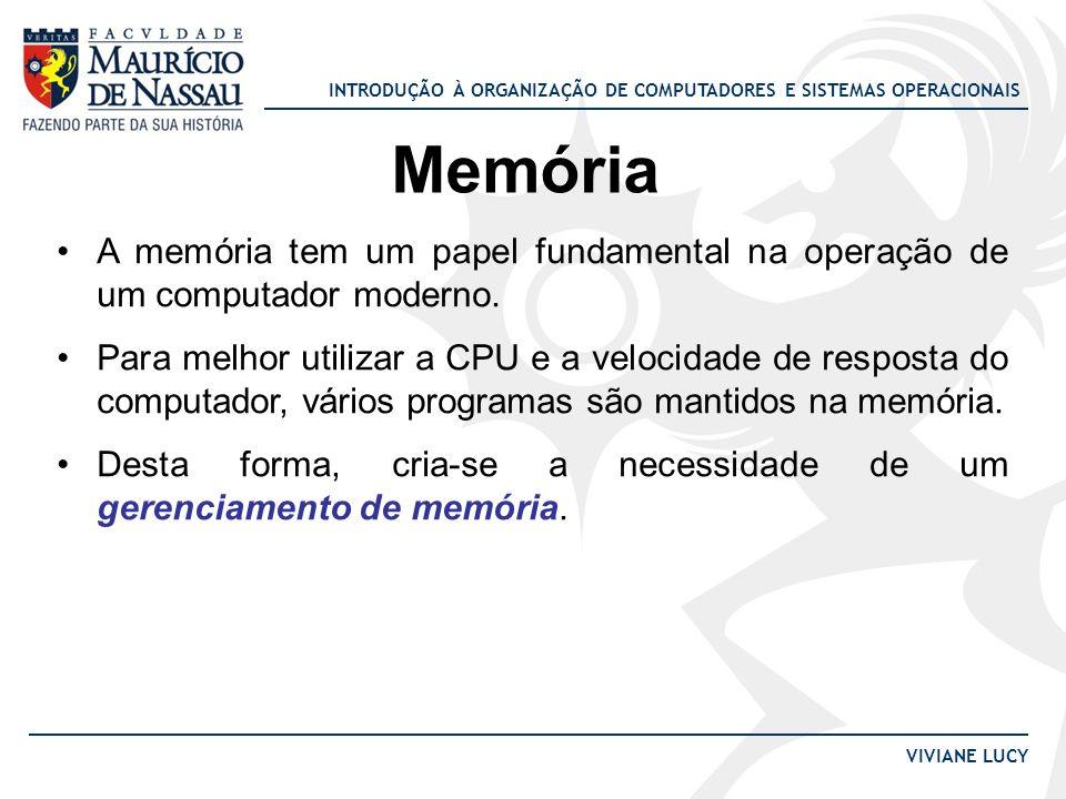 Memória A memória tem um papel fundamental na operação de um computador moderno.