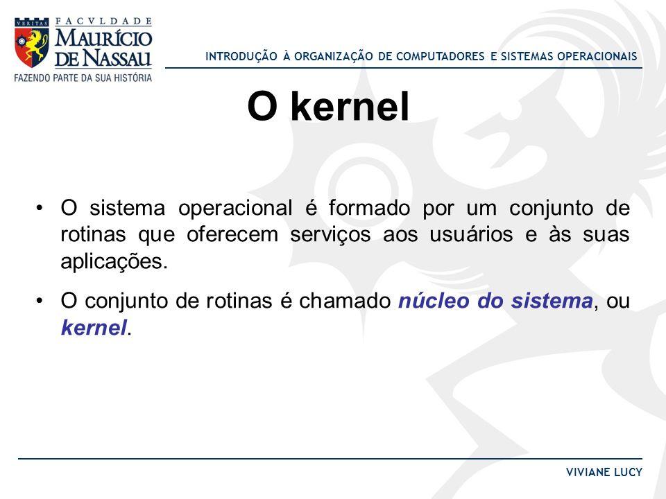 O kernel O sistema operacional é formado por um conjunto de rotinas que oferecem serviços aos usuários e às suas aplicações.