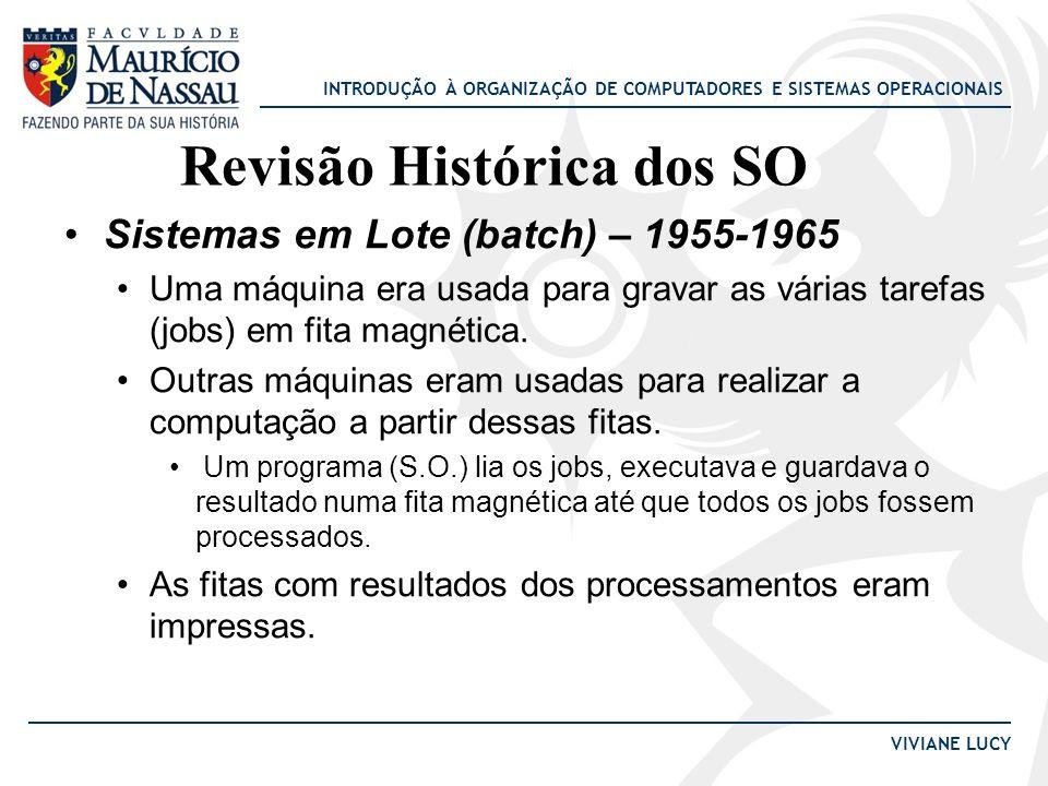 Revisão Histórica dos SO