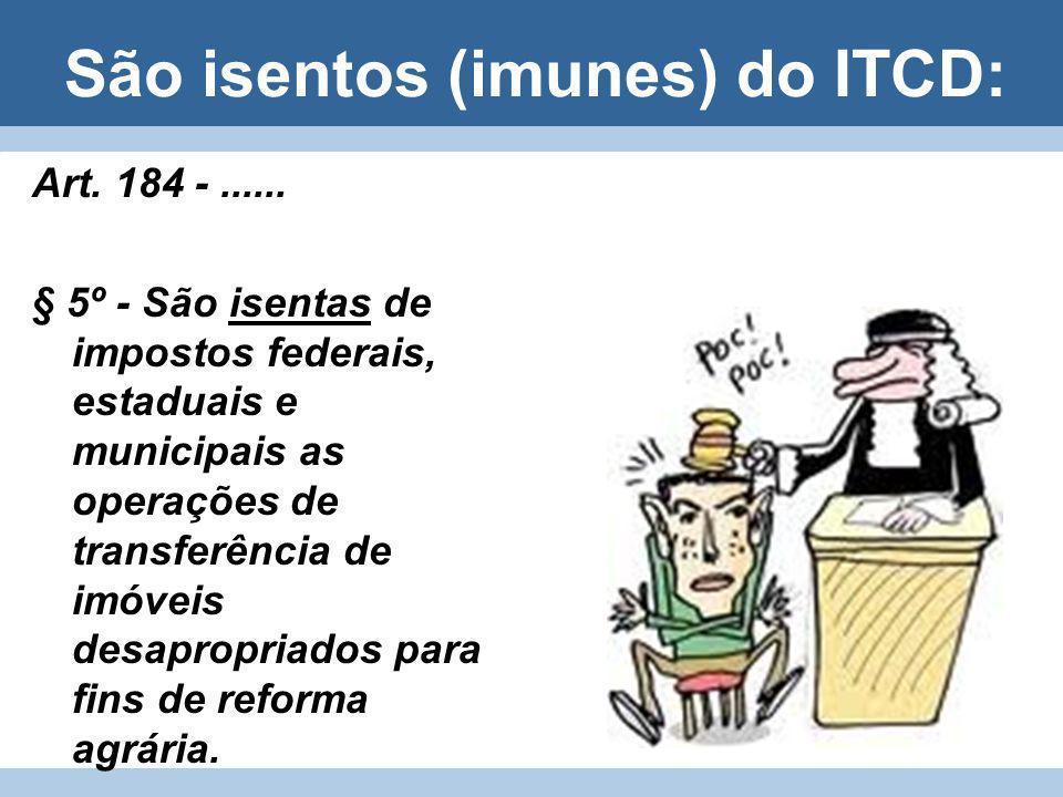 São isentos (imunes) do ITCD: