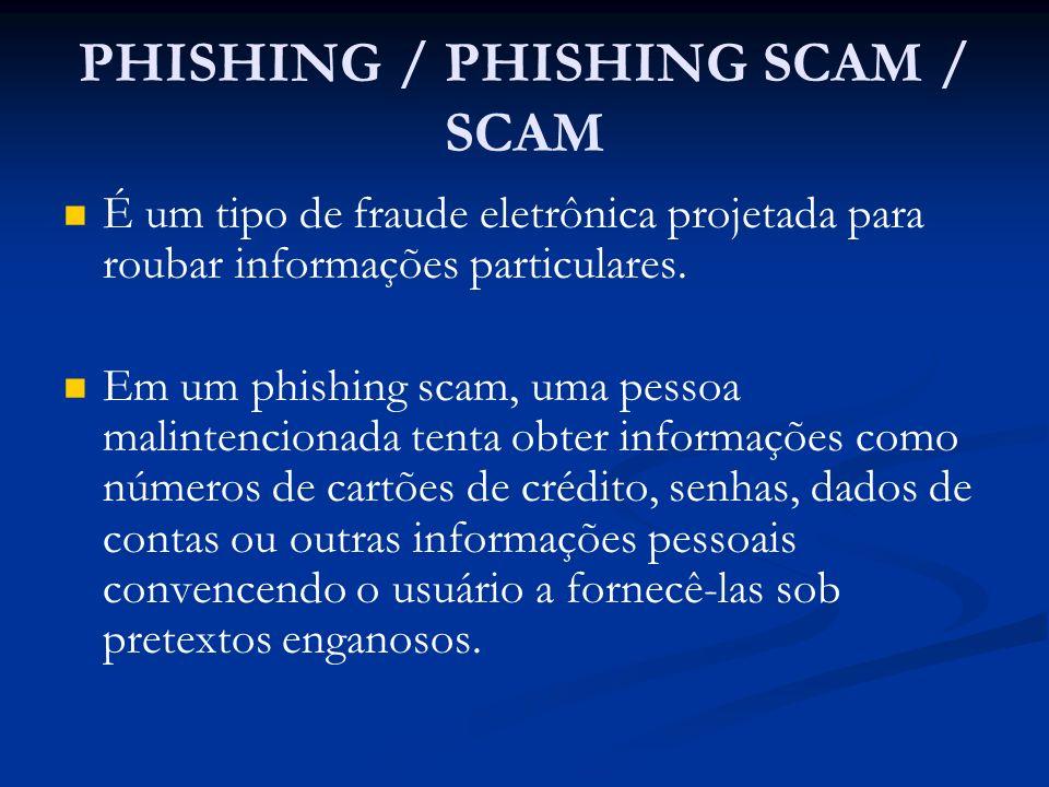 PHISHING / PHISHING SCAM / SCAM