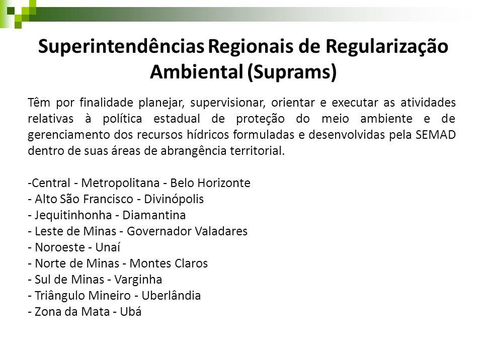 Superintendências Regionais de Regularização Ambiental (Suprams)