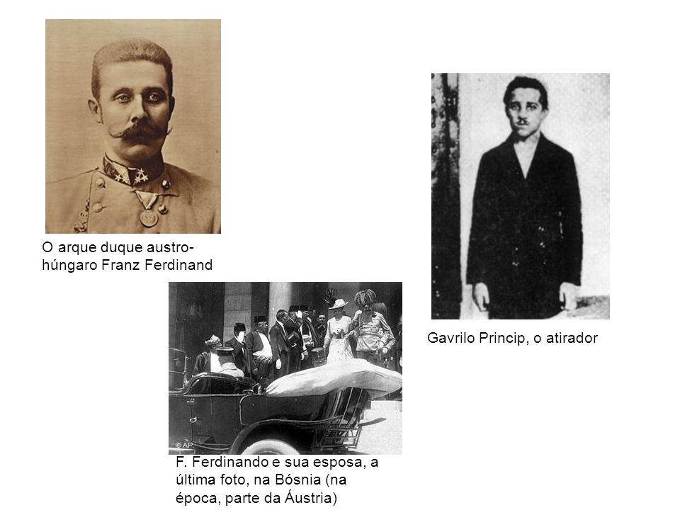 O arque duque austro-húngaro Franz Ferdinand