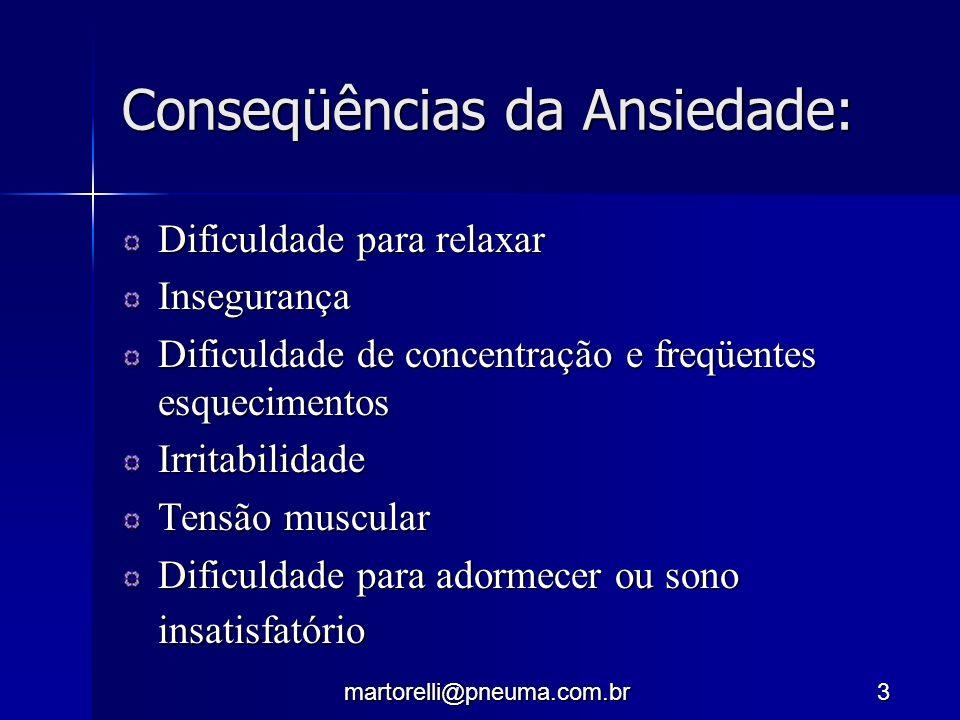 Conseqüências da Ansiedade: