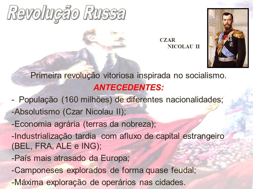 Primeira revolução vitoriosa inspirada no socialismo.
