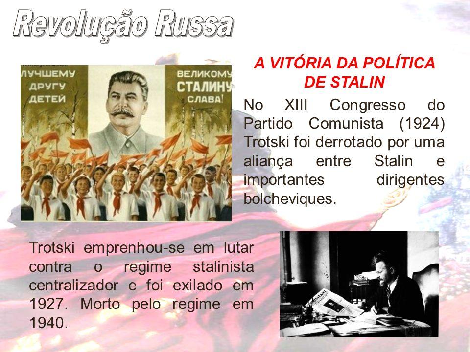 A VITÓRIA DA POLÍTICA DE STALIN
