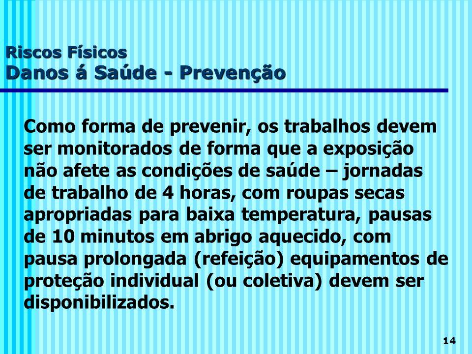 Riscos Físicos Danos á Saúde - Prevenção