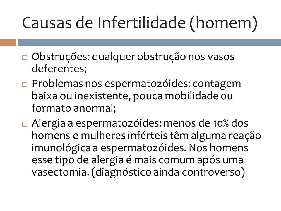 Causas de Infertilidade (homem)