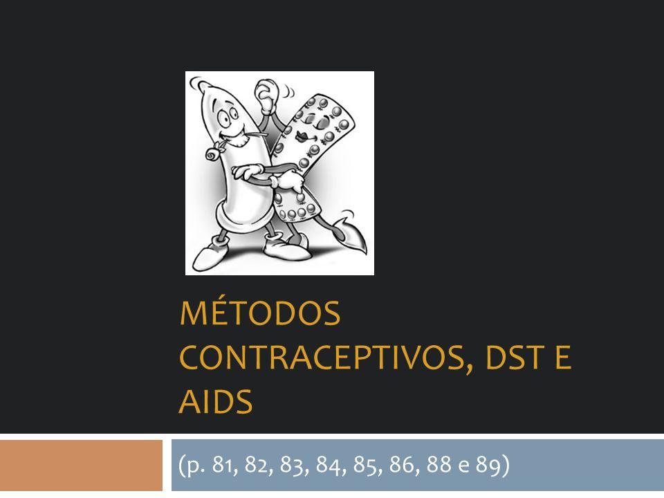 Métodos contraceptivos, dst e aids