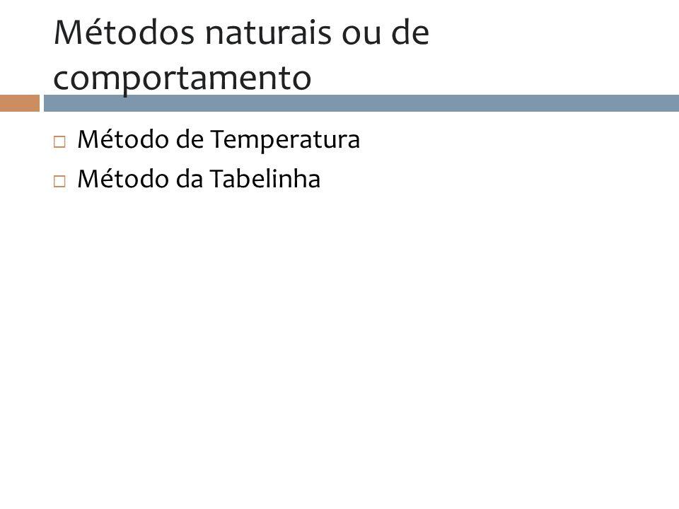 Métodos naturais ou de comportamento