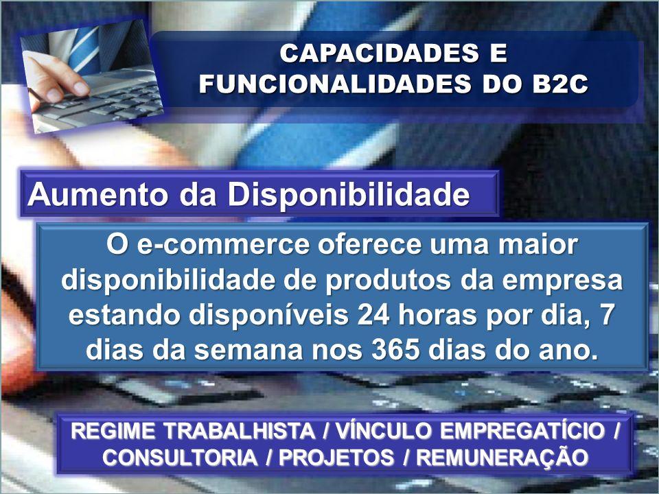 CAPACIDADES E FUNCIONALIDADES DO B2C