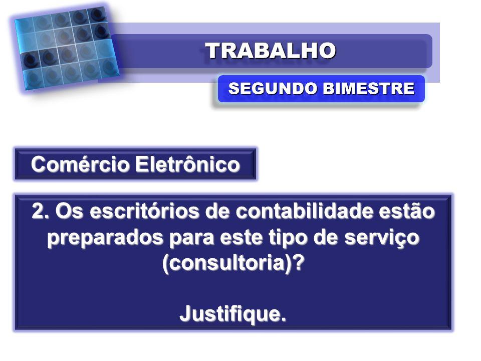 TRABALHO Comércio Eletrônico