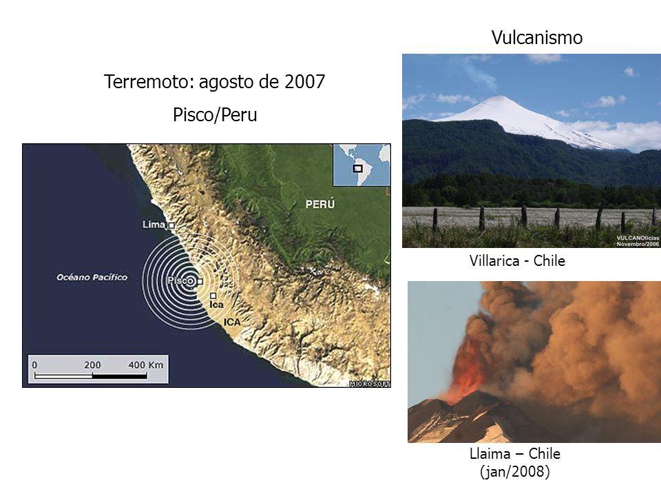 Vulcanismo Terremoto: agosto de 2007 Pisco/Peru Villarica - Chile