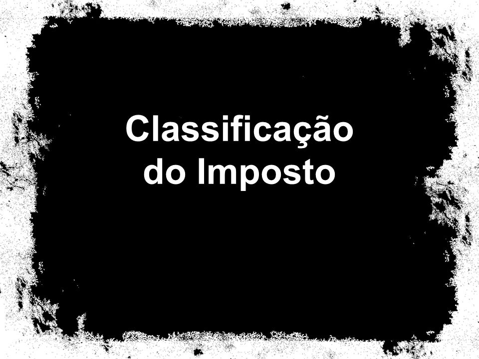 Classificação do Imposto