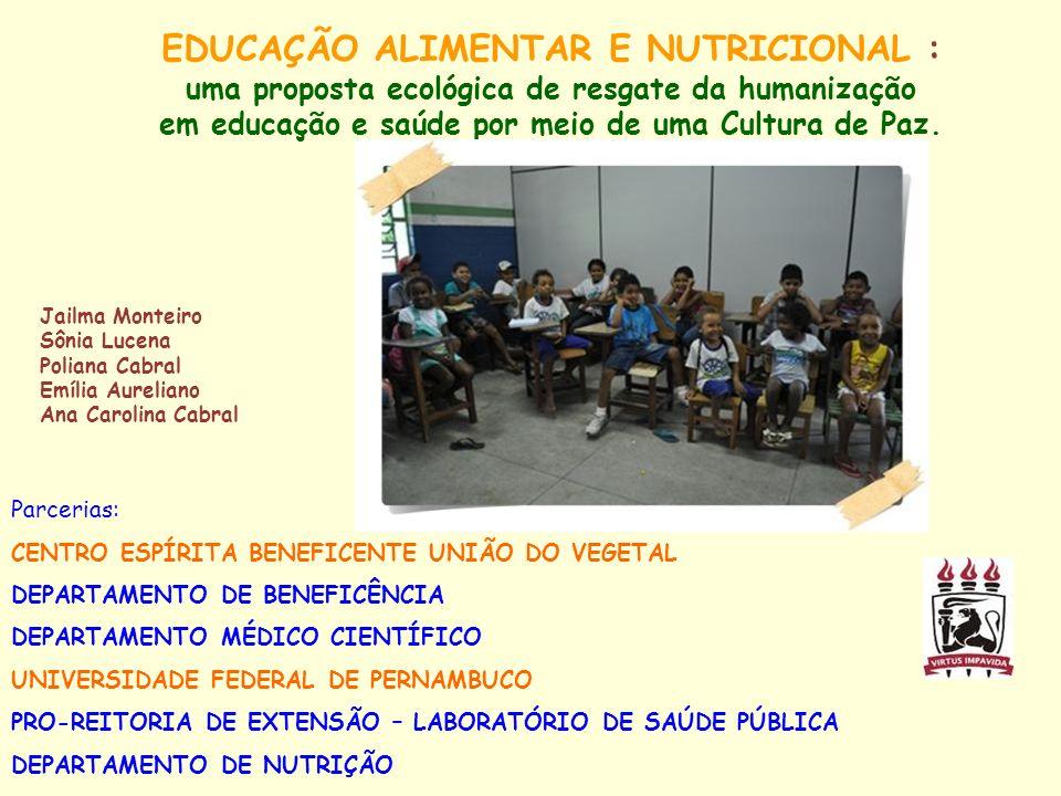 EDUCAÇÃO ALIMENTAR E NUTRICIONAL :