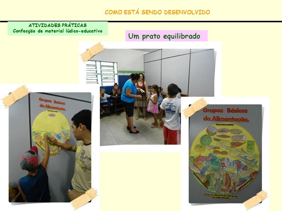 COMO ESTÁ SENDO DESENVOLVIDO Confecção de material lúdico-educativo