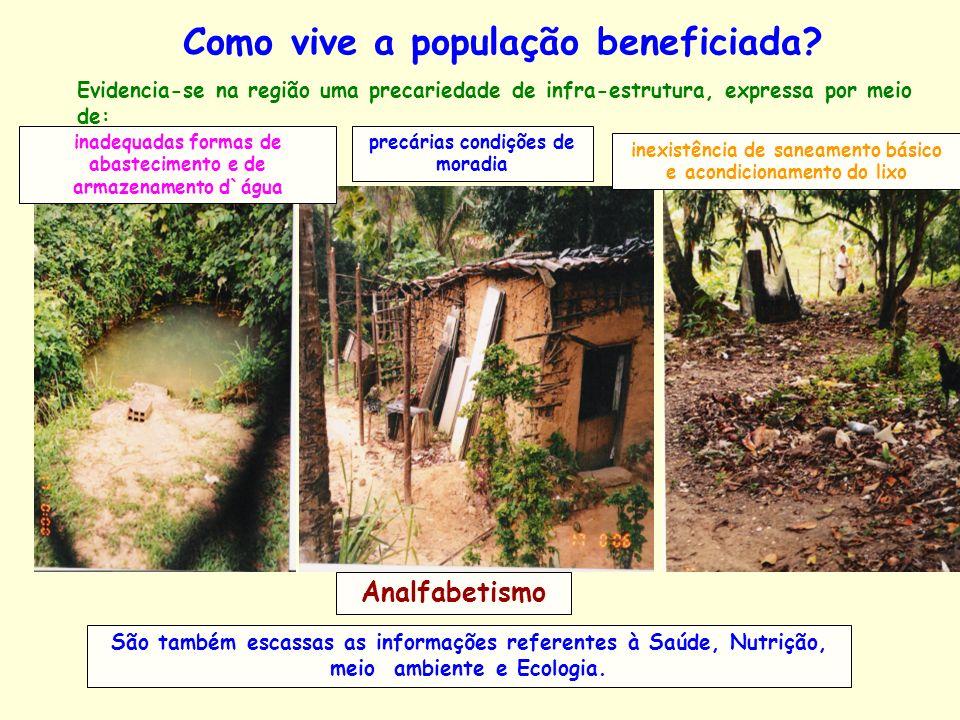 Como vive a população beneficiada