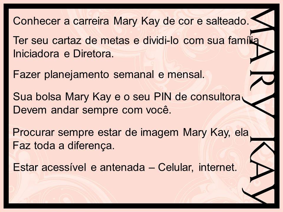 Conhecer a carreira Mary Kay de cor e salteado.