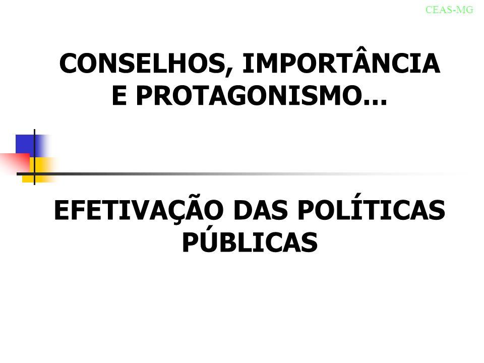 CONSELHOS, IMPORTÂNCIA E PROTAGONISMO...