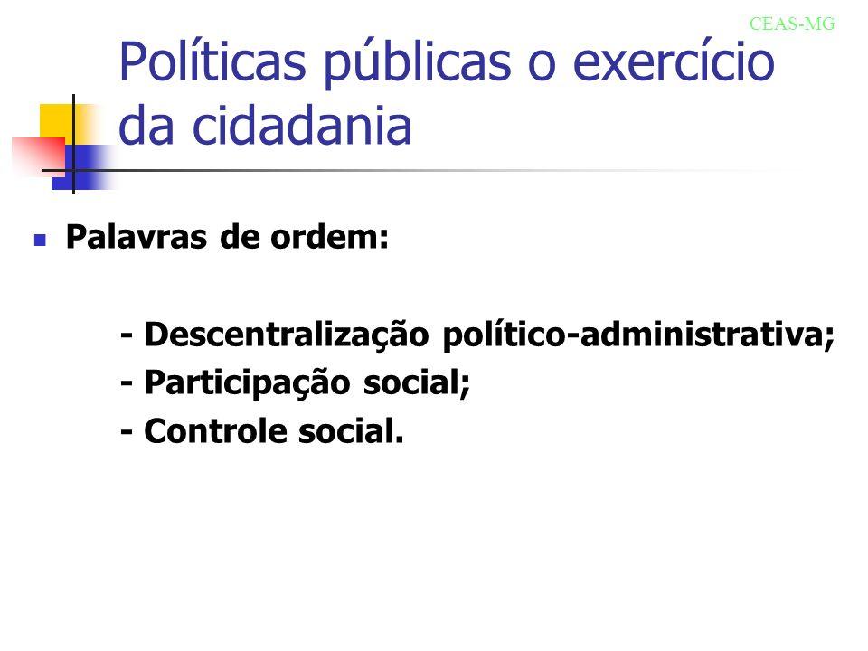 Políticas públicas o exercício da cidadania
