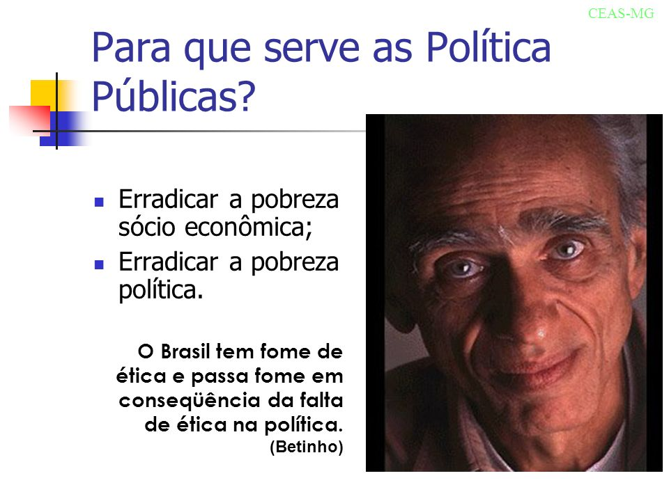 Para que serve as Política Públicas