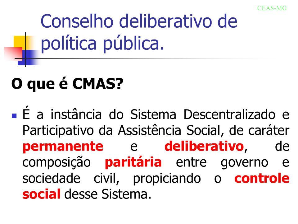 Conselho deliberativo de política pública.